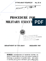 Procedure For Military Executions - Dec. 9, 1947