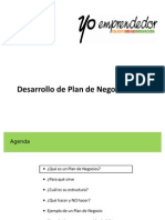 Desarrollo Plan Negocios Yo Emprendedor