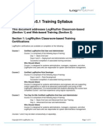 LogRhythm Training Syllabus