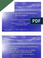 20 Gestion Agua Subterranea en Colombia Presentacion