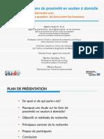 Les liens de proximité en soutien à domicile-diaporama Mario Paquet-présentation TCSAD/CLSC Montcalm