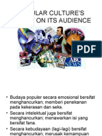 popular culture's impact on its audience