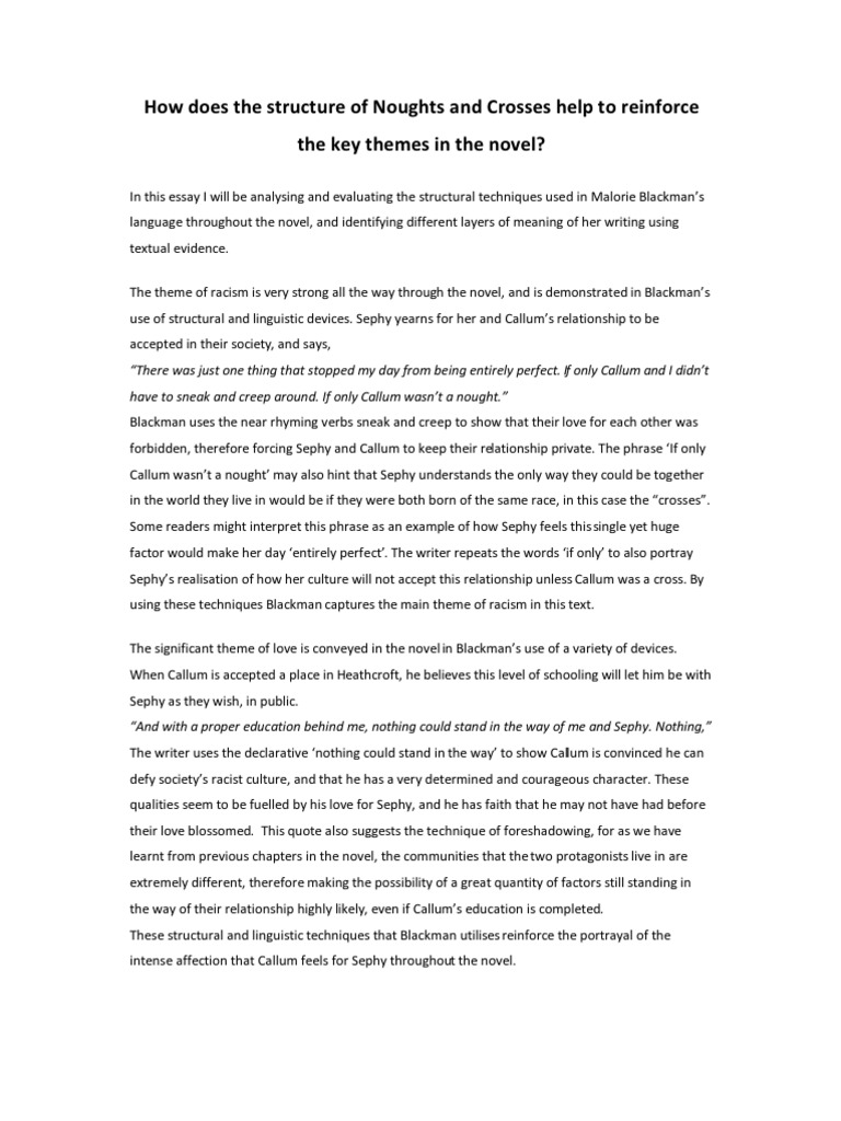 racial discrimination essay night book essay choice and chance  noughts and crosses essay