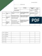Exemplo de planificação semanal