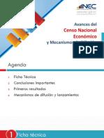 Avance del Censo Económico en el Ecuador