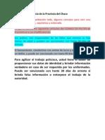 Mensaje de la Policía de la Provincia del Chaco