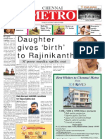 Chennai METRO' Daily Evening Newspaper.