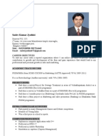 sudev resume for marketing