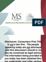 Mitigation Specialists Short Sale Presentation_revised1
