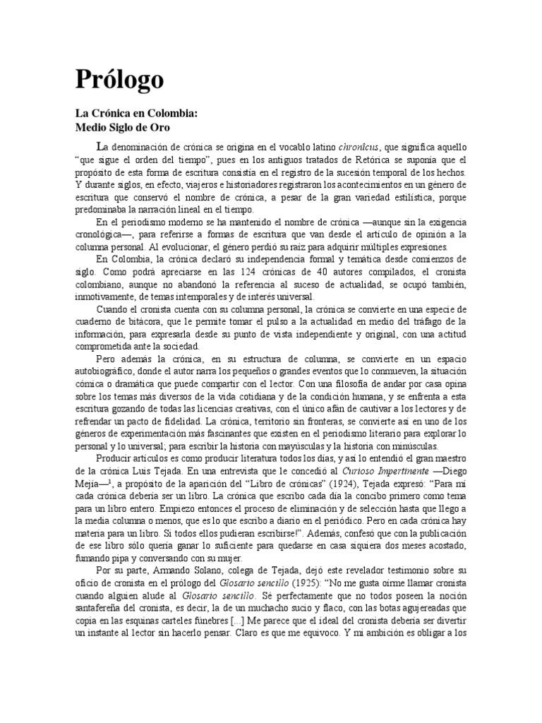 La Crónica en Colombia Medio Siglo de Oro 1c37e845033