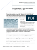 How Cisco IT Migrated Mission-Critical Application to Cisco Unified Computing System, Improving Performance and Lowering TCO (Case Study)