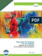 Comision de La Verdad  CVR Honduras Tomo 1