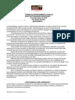 Guía Entrenamiento 2011