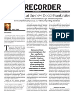 Further Look at new Dodd-Frank rules