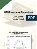 CTI Occupancy Simulations
