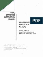 Vital Stat Manual Codes