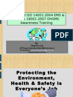 Integrated ISO 14001+18001 Awareness Training ( 1day)
