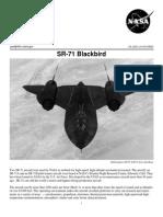NASA Facts SR-71 Blackbird 2002