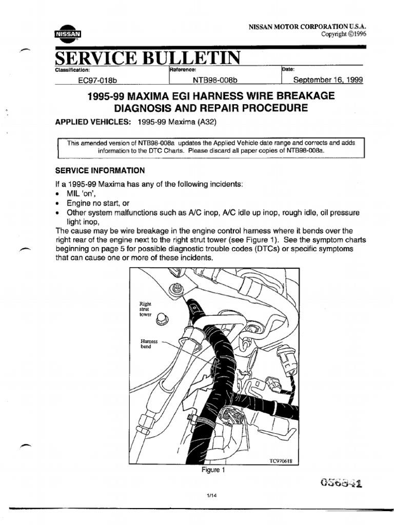 95-99 Nissan Maxima Wire Harness BreakageScribd
