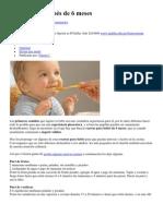 Recetas para bebés de 6 meses