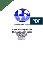 OpenPro Application Demonstration Guide