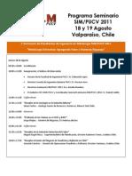 Programa Seminario SIM PUCV 2011