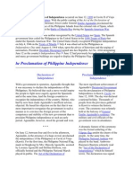The Philippine Declaration of Independence Occurred on June 12