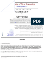 Vanicek Tutorial in Geodesy 2001 ,University of New Brunswick