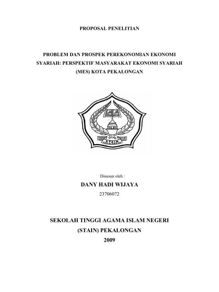 Doc Proposal Skripsi Ekonomi Syariah Kharisma Ka Arisma Academia Edu
