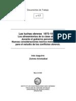 Las Luchas Obreras 1973-1976 I