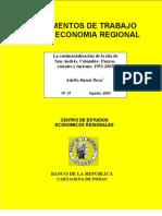 Meisel, Adolfo- La continentalización de la isla de San Andrés, Colombia