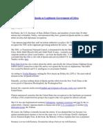 Clinton Announces Al-Qaeda as Legitimate Government of Libya