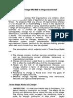 Kurt Lewin's 3-Stage Model in Org Change