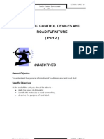 Unit 10 ( TRAFFIC CONTROL DEVICES AND ROAD FURNITURE ( Part 2  )  )