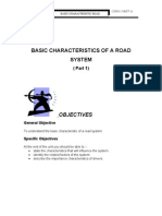 Unit 11 ( BASIC CHARACTERISTICS OF A ROAD SYSTEM ( Part 1)  )