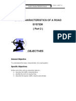 Unit 12 ( BASIC CHARACTERISTICS OF A ROAD SYSTEM  ( Part 2 )  )