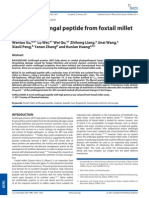 A Novel Anti Fungal Peptide From Foxtail Millet Seeds