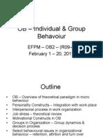 OB – Individual & Group Behavoiur - EFPM
