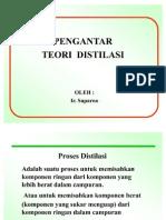 teori pengantar distilasi, pengantar teori destilasi, distillation theory