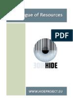 HIDE - (Biometrics) Catalogue of Resources
