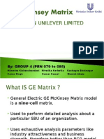 GE McKinsey Matrix Group 4 Marketing & Finance