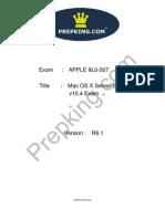 Prepking 9L0-507 Exam Questions