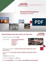 2011 ADEN Services Remote Site Management GB
