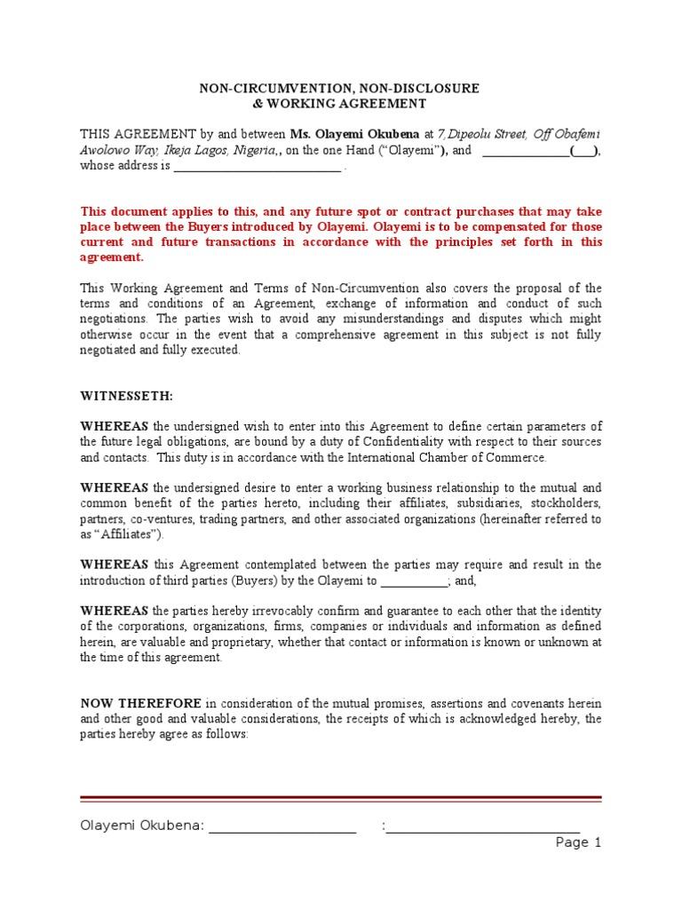Ncnd working agreement financial transaction partnership platinumwayz