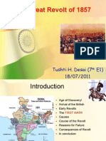 The Great Revolt of 1857_Prepared by Tushti Desai