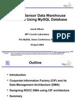 Sensor Data Warehouse Design March 14 2005 MySQL Conf
