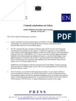 Council conclusions on Libya
