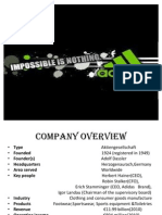 adidas company analysis A business analysis of adidas ag, a company that manufactures sportswear and sports equipment, is provided, focusing on the strengths, weaknesses, opportunities and threats (swot) faced by the company strengths include having a wide geographical footprint it weakness is dependence on third party.