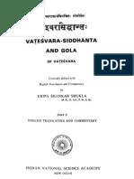 Vaṭeśvara Siddhānta (English)