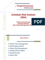 PCO - Schedule Risk Analysis (SRA) - Pedram Daneshmand 14-Jan-2011